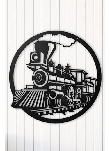 Angemiel Home Tren Duvar Tablosu Siyah